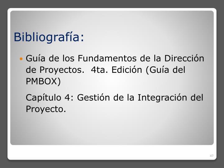 Guía de los Fundamentos de la Dirección de Proyectos.  4ta. Edición (Guía del PMBOX)