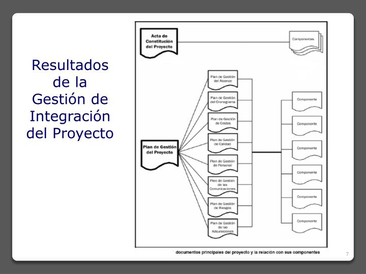 Resultados de la Gestión de Integración del Proyecto