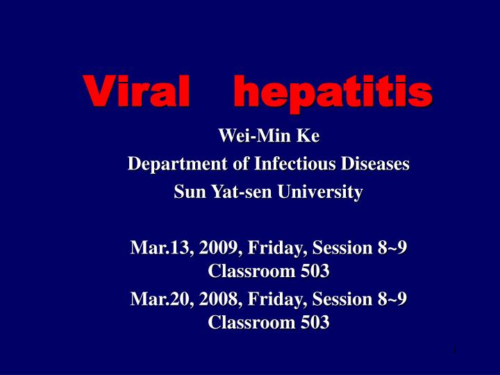 viral hepatitis n.
