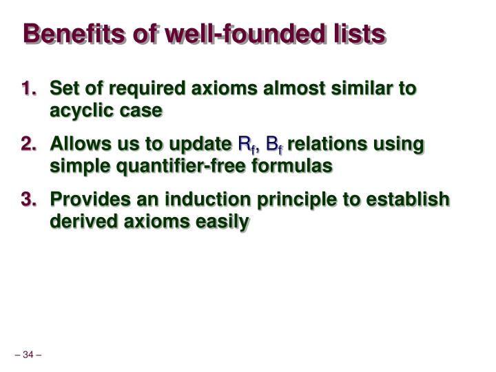 Benefits of well-founded lists