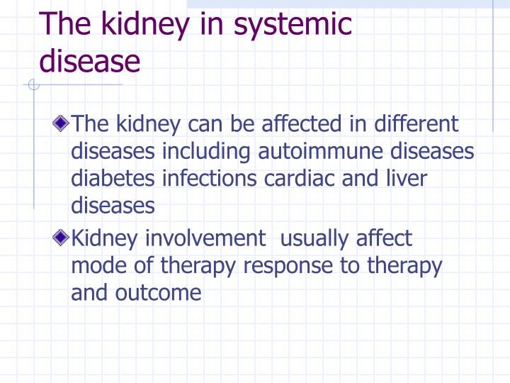 The kidney in systemic disease1