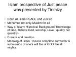 islam prospective of just peace was presented by tirimizy