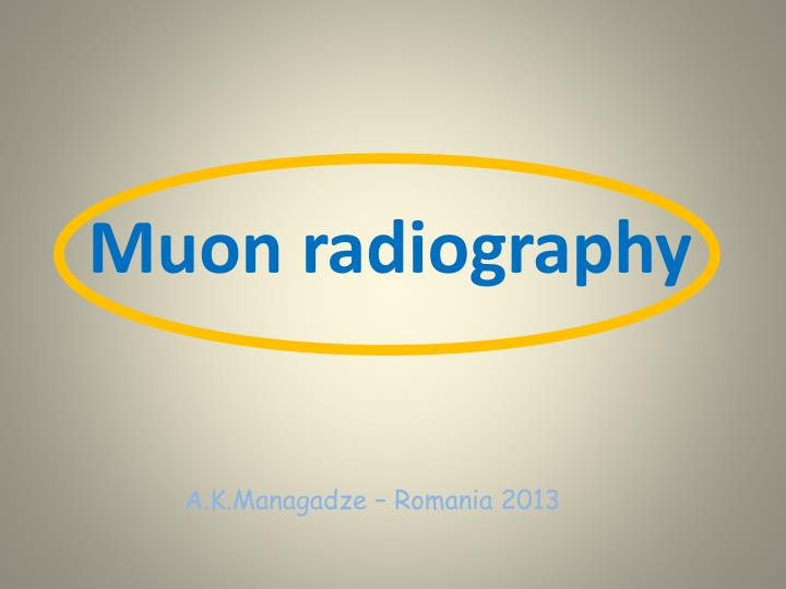 muon radiography n.