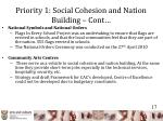 priority 1 social cohesion and nation building cont1
