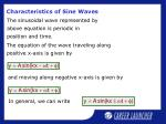 characteristics of sine waves