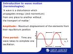 introduction to wave motion terminologies