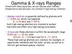 gamma x rays ranges