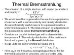 thermal bremsstrahlung
