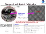 temporal and spatial collocation