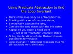 using predicate abstraction to find the loop invariant