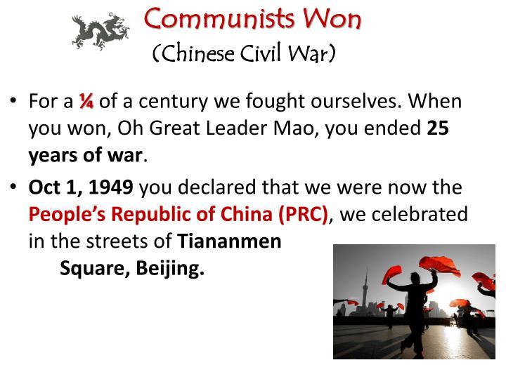 Communists Won