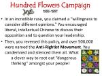 hundred flowers campaign 1955 1957