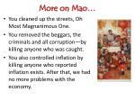 more on mao