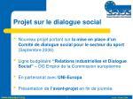 projet sur le dialogue social