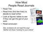 how most people read journals