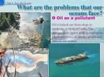 what are the problems that our oceans face11