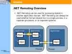 net remoting overview
