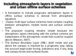 including atmospheric layers in vegetation and urban offline surface schemes