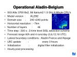 operational aladin belgium