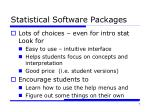 statistical software packages