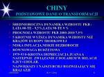 chiny podstawowe dane o transformacji