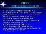 chiny tendencje rozwoju po 1979