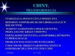 chiny transformacja