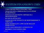 system finansowy chin