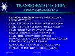 transformacja chin a do wiadczenia esw