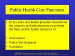 public health core functions