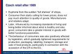 czech retail after 1989