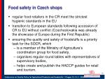 food safety in czech shops