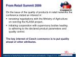 from retail summit 2009