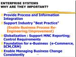 enterprise systems why are they important