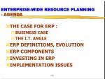 enterprise wide resource planning agenda