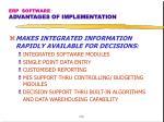 erp software advantages of implementation