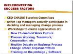 implementation success factors1