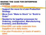 making the case for enterprise systems compaq computers