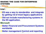 making the case for enterprise systems others