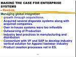 making the case for enterprise systems reebok