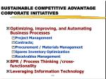 sustainable competitive advantage corporate initiatives