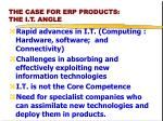 the case for erp products the i t angle