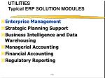 utilities typical erp solution modules1