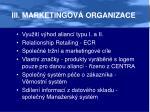iii marketingov organizace