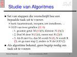 studie van algoritmes