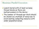 maximize parallel execution