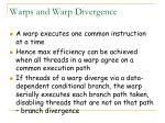 warps and warp divergence