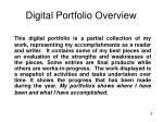 digital portfolio overview