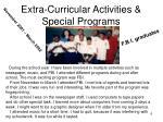 extra curricular activities special programs