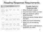 reading response requirements